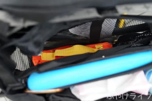 ACTIVE WINNERベビーカーバッグのメッシュポケット